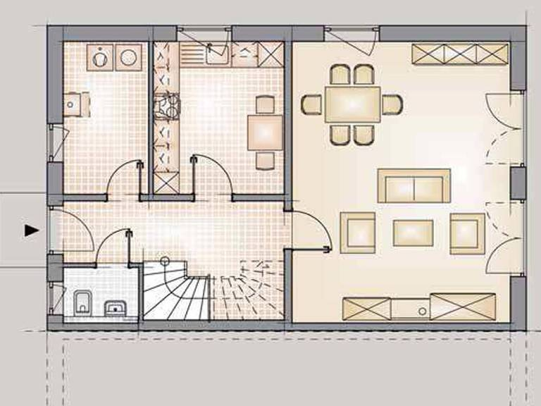 Doppelhaus Family Grundriss 2