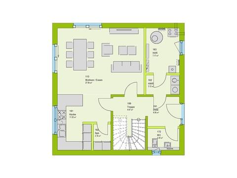 Massa Haus Cube 6 Grundriss EG