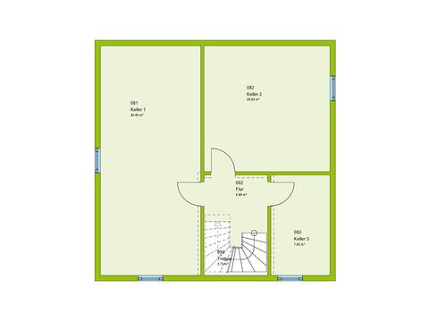 Massa Haus Cube 6 Grundriss KG