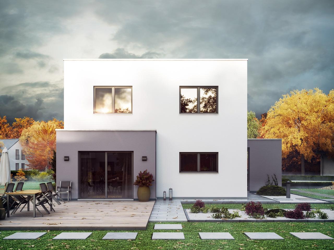 Massa Haus Cube 6 Herbst Garten Tag