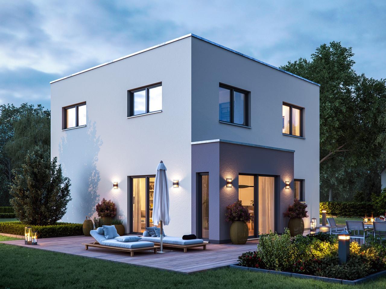 Massa Haus Cube 6 Sommer Abend Garten