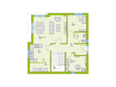 Massa Haus Cube 7 Grundriss EG