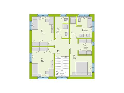 Massa Haus Cube 7 Grundriss OG