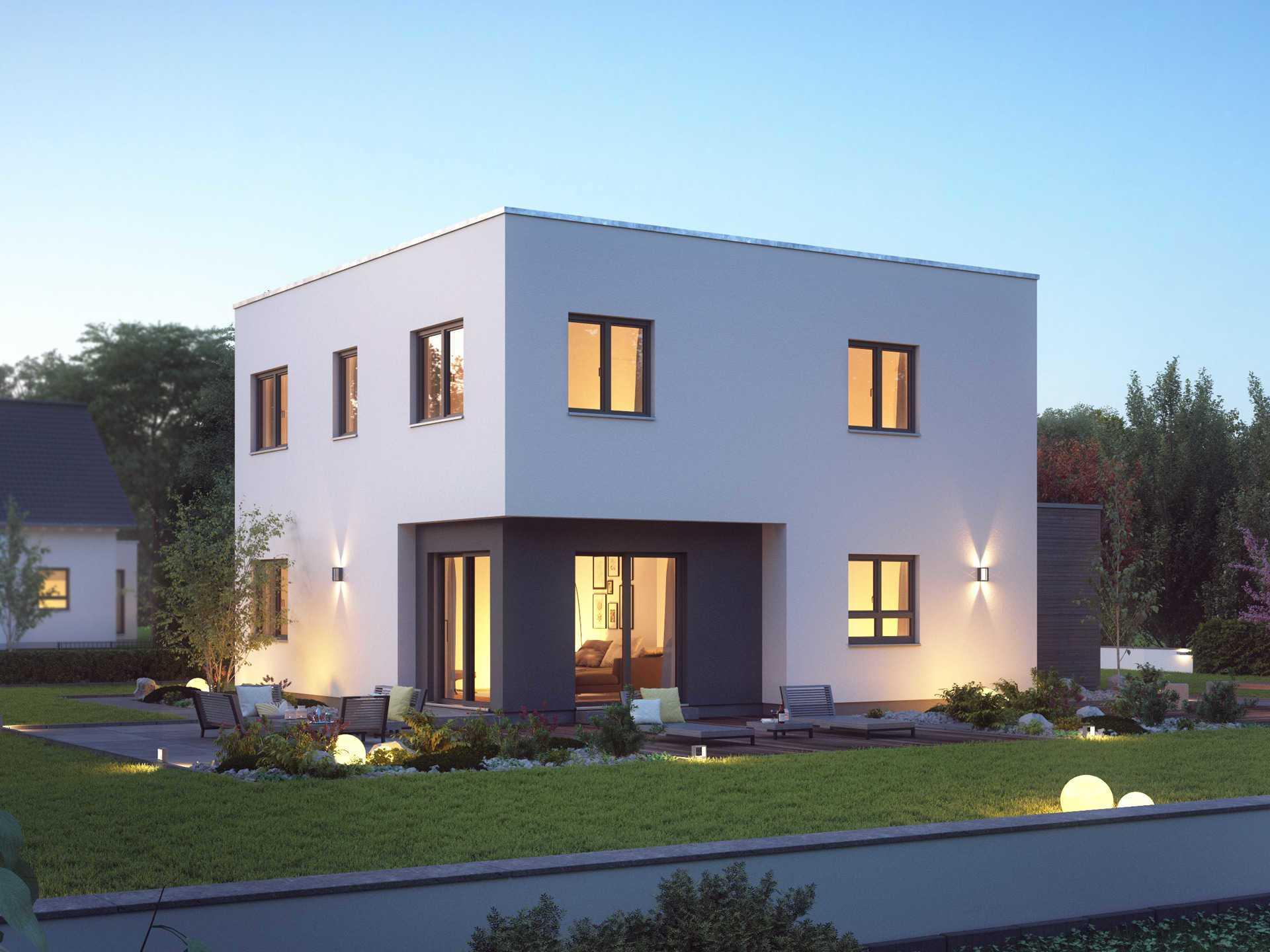 Einfamilienhaus cube 7 massa haus for Modernes haus cube