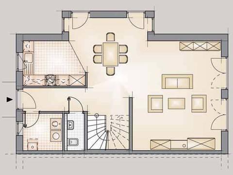 Doppelhaus Trend 175 Grundriss EG
