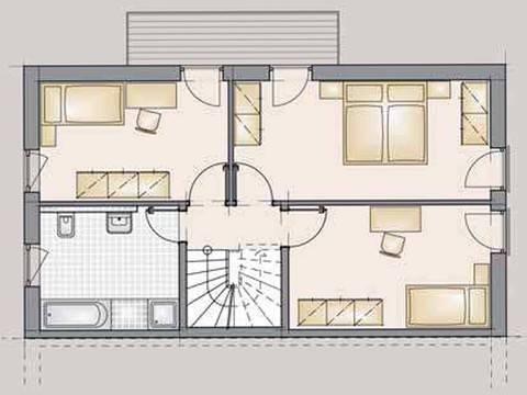 Doppelhaus Trend 175 Grundriss OG