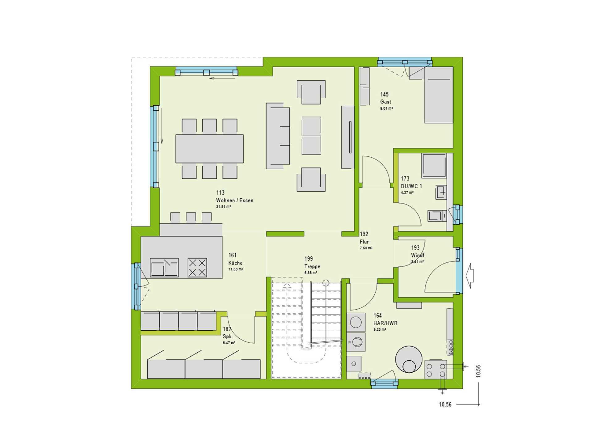 Massa Haus Cube 8 Grundriss EG