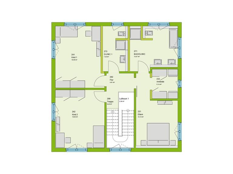 Massa Haus Cube 8 Grundriss OG