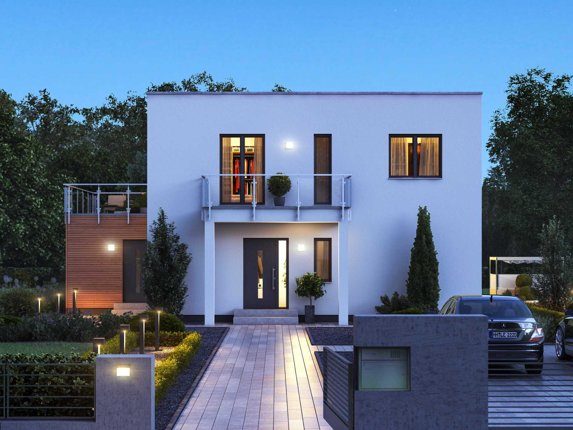 Einfamilienhaus cube 8 massa haus for Modernes haus cube