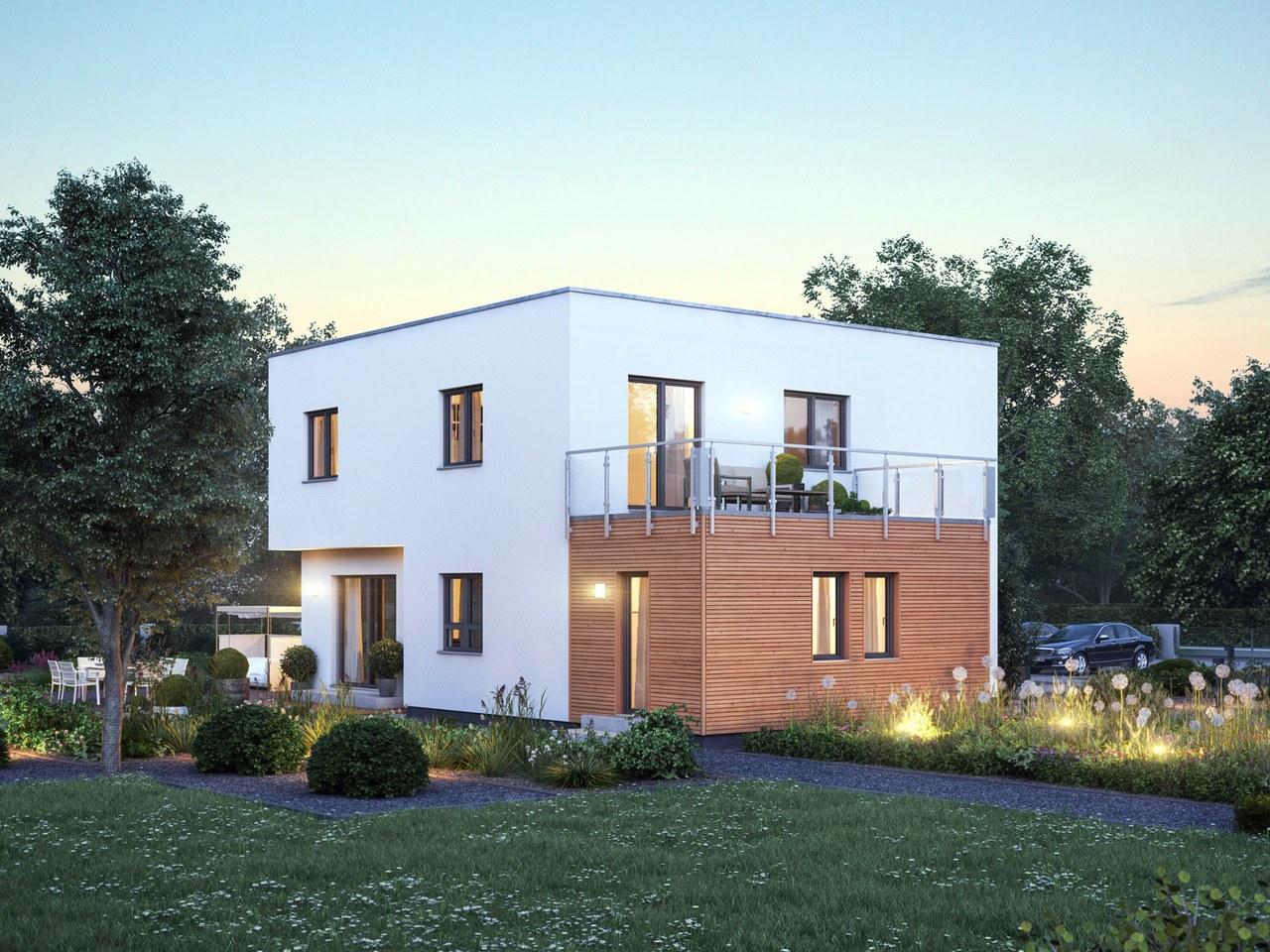 Massa Haus Cube 8 Sommer Garten Abend
