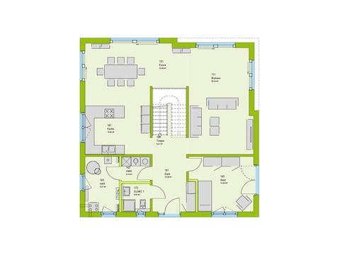 Massa Haus Cube 10 Grundriss EG