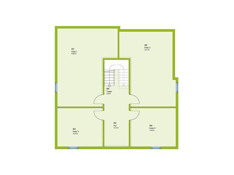 Massa Haus Cube 10 Grundriss KG