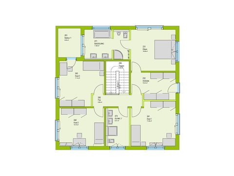 Massa Haus Cube 10 Grundriss OG
