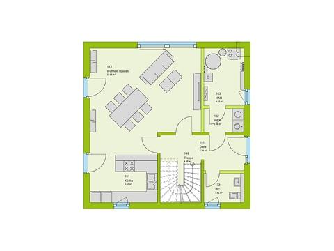 Massa Haus Vario 2V Grundriss EG