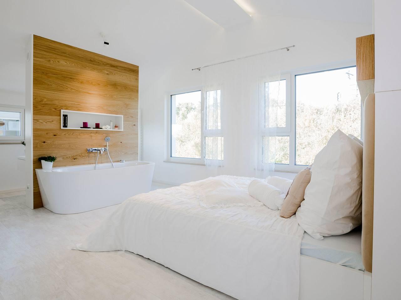 Schlafzimmer Ansicht 2 - inkl. Badewanne
