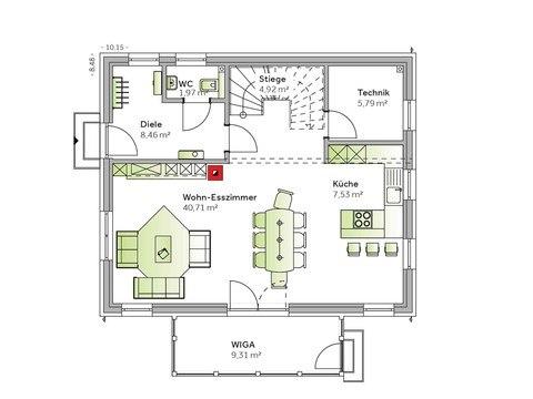 Einfamilienhaus Family V emotion Grundriss EG