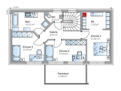 Einfamilienhaus Solair 150 Grundriss OG