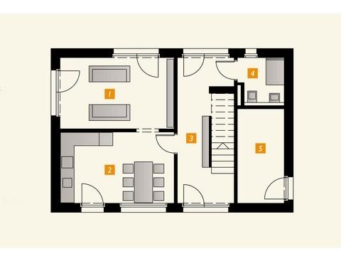 Einfamilienhaus s´home 106/E Grundriss EG