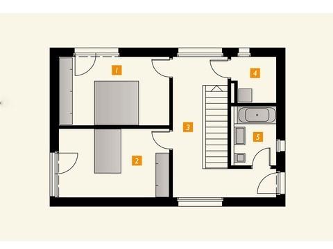 Einfamilienhaus s´home 106/E Grundriss OG