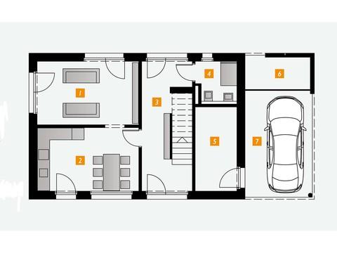 Einfamilienhaus s´home 127/E Grundriss EG