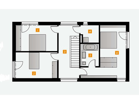 Einfamilienhaus s´home 127/E Grundriss OG