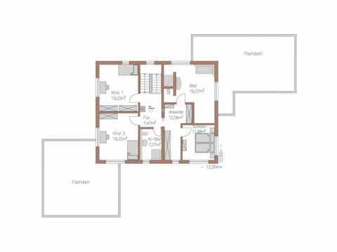 Individuell geplantes Kundenhaus 5 - WOLF System Haus Grundriss OG