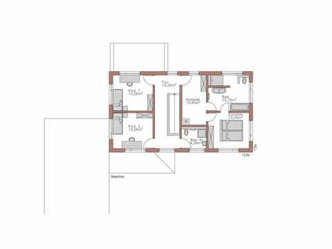 Individuell geplantes Kundenhaus 6 - WOLF System Haus Grundriss OG