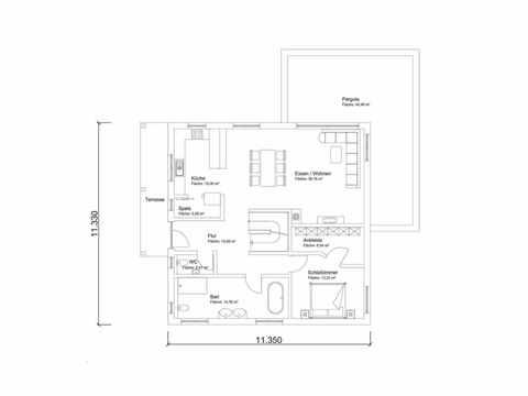 Individuell geplantes Kundenhaus 7 - WOLF System Haus Grundriss EG