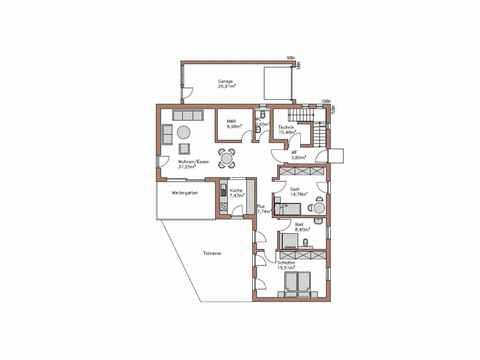 Individuell geplantes Kundenhaus 9 - WOLF System Haus Grundriss EG