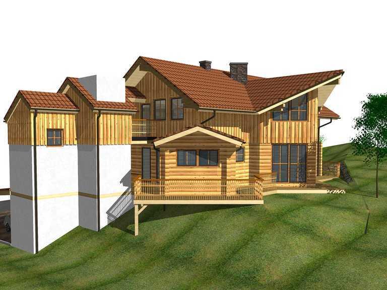 Zweifamilienhaus Ötscher Ansicht 2 - Finnland Block