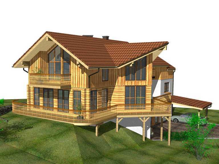 Zweifamilienhaus Ötscher Ansicht 3 - Finnland Block