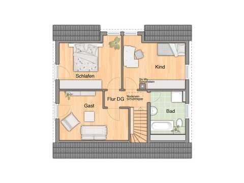 Haus Flair 125 Grundriss OG