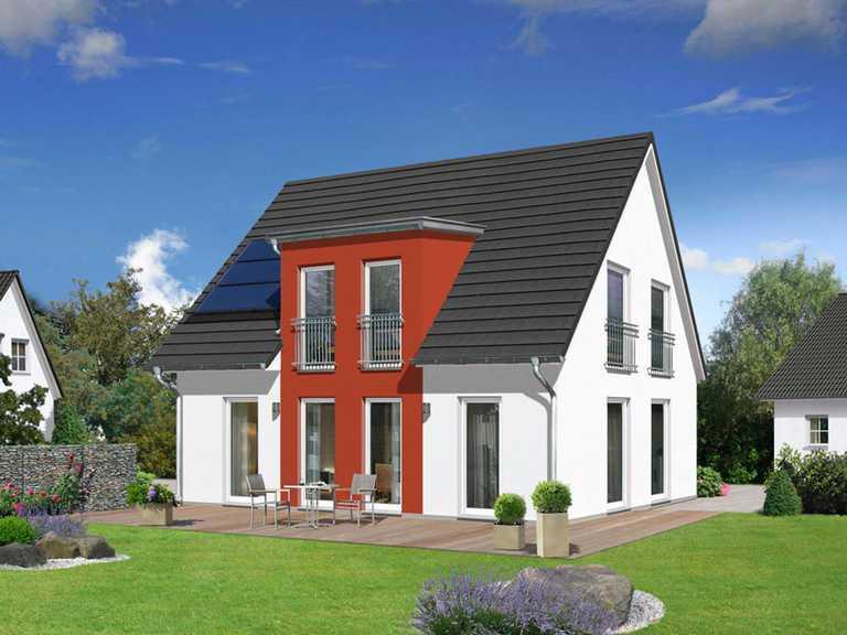 Haus Flair 125 mit Flachdachgaube rot