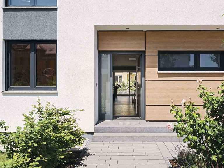 Kundenhaus Blum - WeberHaus Eingang