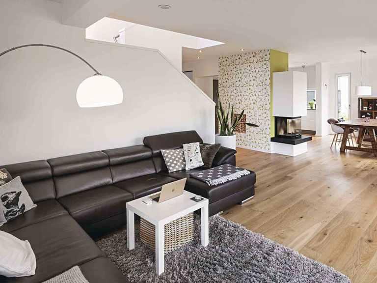 Kundenhaus Blum - WeberHaus Wohnzimmer