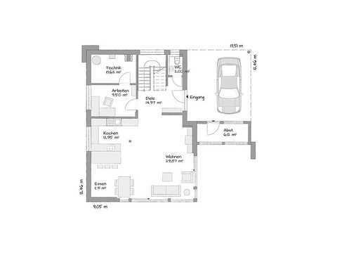 KAMPA - Musterhaus Salzburg Grundriss EG
