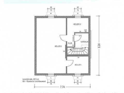 Einfamilienhaus Country C2 Grundriss KG