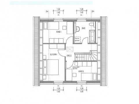 Einfamilienhaus Country C2 Grundriss OG