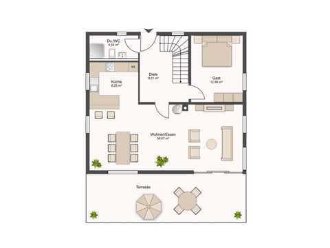 Familienhaus Favorit Grundriss EG