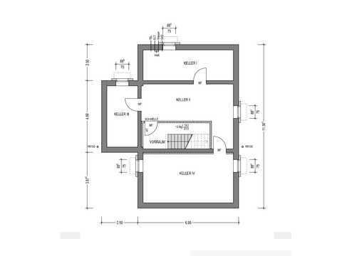 Bauhaus C.A.V.13 Grundriss KG
