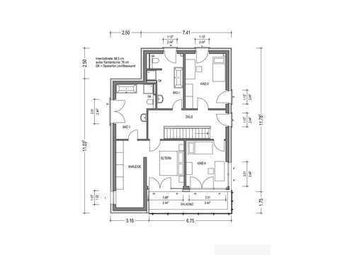 Bauhaus C.A.V.13 Grundriss OG