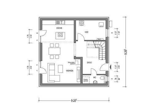 Stadtvilla Town T1 – Aktionshaus Grundriss EG