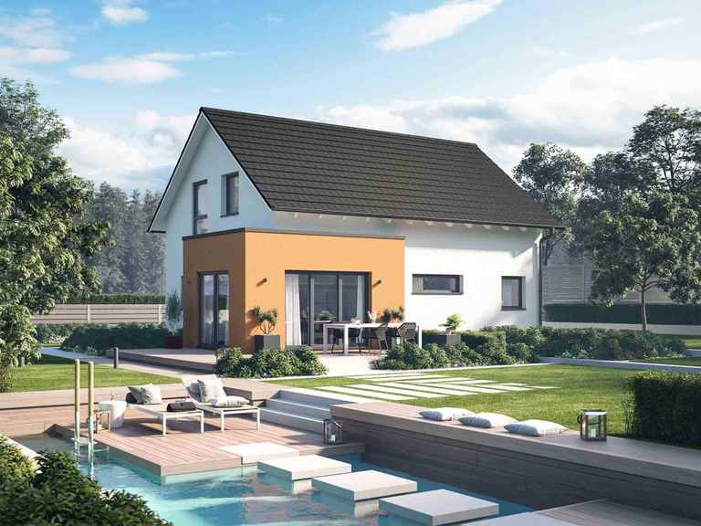 Einfamilienhaus Solitaire-E-125 E1 - Schwabenhaus