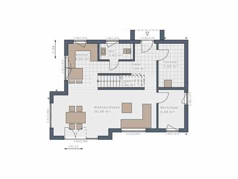 Einfamilienhaus Solitaire-E-125 E1 - Schwabenhaus Grundriss EG