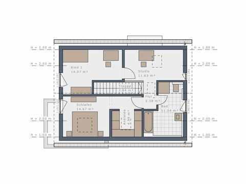 Einfamilienhaus Solitaire-E-125 E1 - Schwabenhaus Grundriss OG