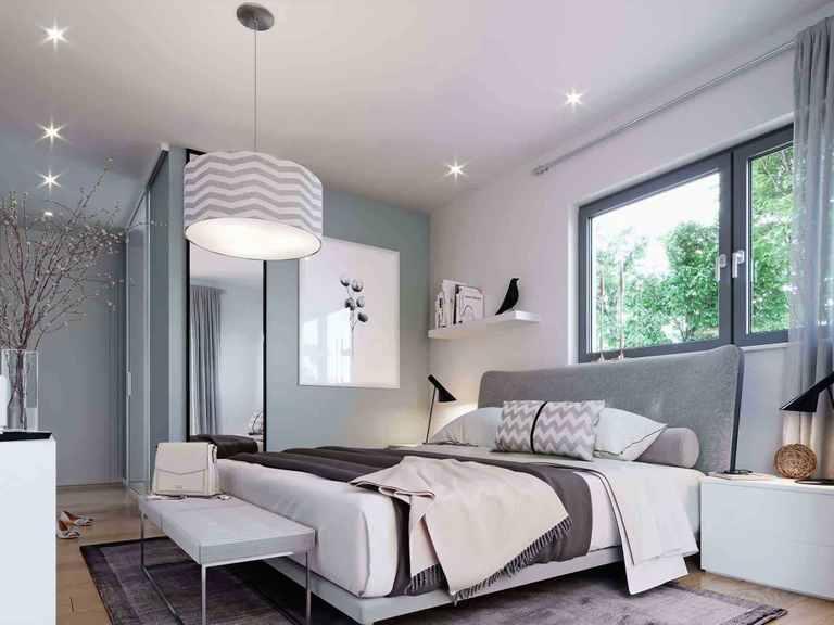 Stadtvilla Solitaire-E-125-E8 - Schwabenhaus Schlafzimmer