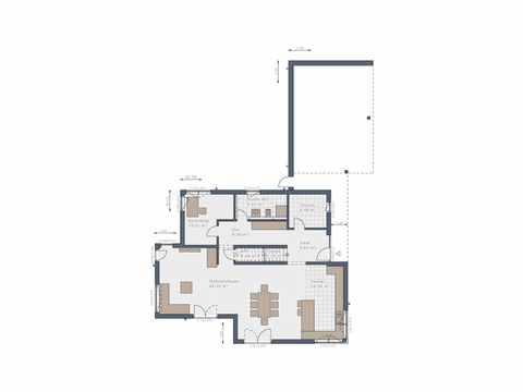Bauhaus Solitaire-165-E9 - Schwabenhaus Grundriss EG