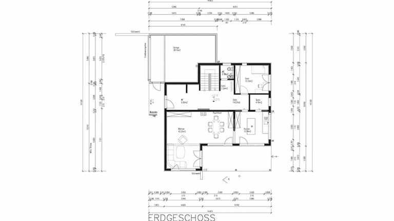 Grundriss des Kundenhaus Felder mit abtrennbarer Küche