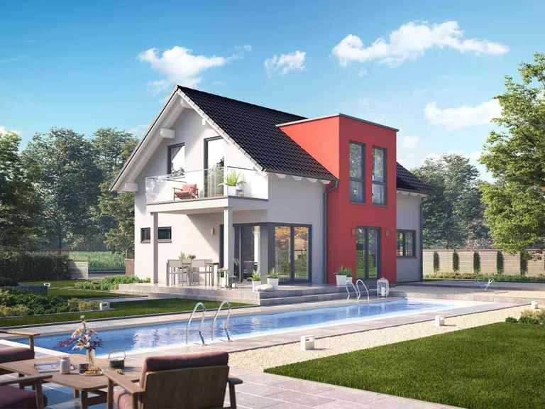 Einfamilienhaus Solitaire-E-125 E2 - Schwabenhaus