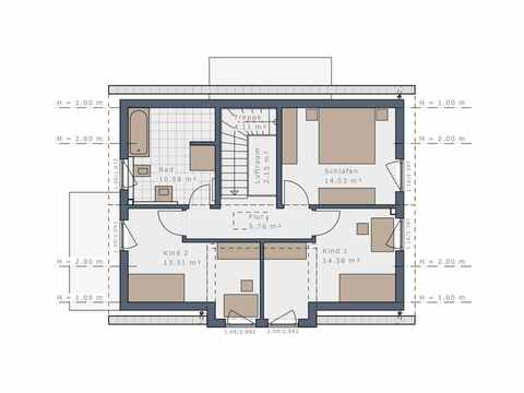 Einfamilienhaus Solitaire-125-E2 - Schwabenhaus Grundriss OG